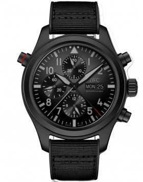 Fake IWC Pilot's Double Chronograph Top Gun Ceratanium Watch IW371815