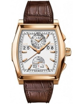 Replica IWC Da Vinci Perpetual Calendar Digital Date-Month Silver Dial Mens Watch