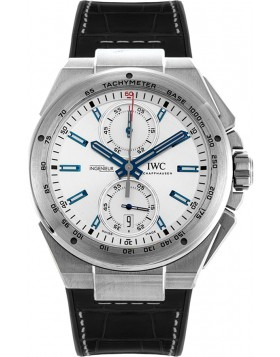 Replica IWC Ingenieur Chronograph Racer Silver Dial Mens Watch