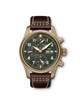 Fake IWC Pilots Watch Chronograph Spitfire Bronze Watch IW387902