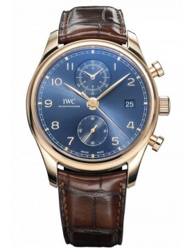 Fake IWC Portugieser Automatic Blue Dial Mens Watch IW390305