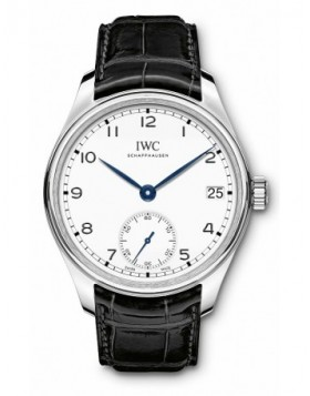 Fake IWC Portugieser Hand-Wound Eight Days Edition 150 Years White Dial IW510212