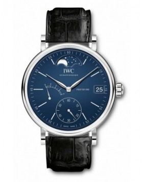 Fake IWC Portofino Hand-Wound Moon Phase Edition 150 Years Blue Dial IW516405