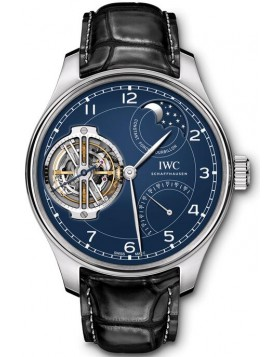 Fake IWC Portugieser Constant-Force Tourbillon Edition 150 Years Platinum IW590203