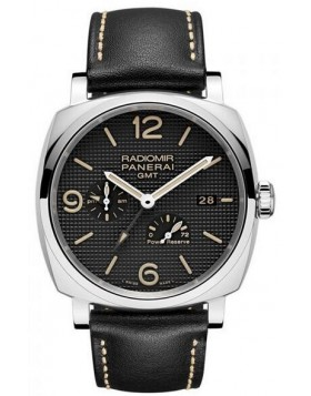 Popular Replica Panerai Radiomir 1940 3 Days GMT Power Reserve Automatic Acciaio Black Dial PAM00628