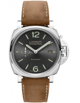 Fake Panerai Luminor Due 3 Days Automatic Acciaio 42mm Grey Dial PAM00904