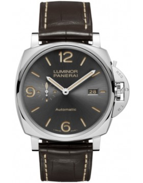 Fake Panerai Luminor Due 3 Days Automatic Acciaio 45mm Grey Dial PAM00943
