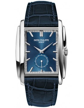 Replica Patek Philippe Gondolo White Gold Blue Dial Mens Watch