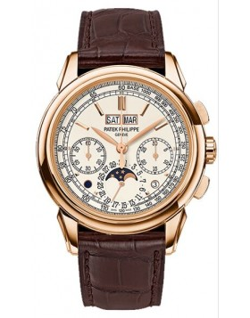 Replica Patek Philippe Grand Complications Silver Dial Rose Gold Mens Watch