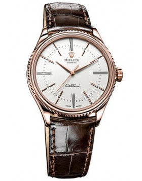 Rolex Cellini Time 39mm 18 ct Everose Gold Mens Watch Replica