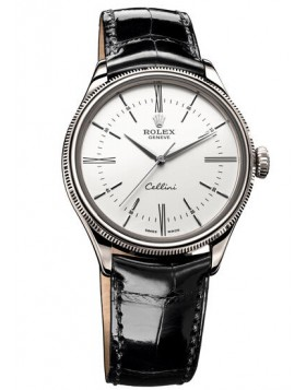 Rolex Cellini Time 39mm 18 ct White Gold Mens Watch Replica