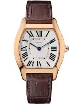 Replica Cartier Tortue Medium Silver Dial Rose Gold Ladies Watch