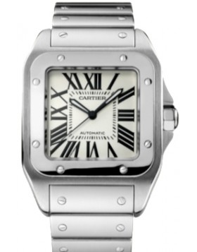 Replica Cartier Santos 100 Large Stainless Steel Automatic Mens Watch