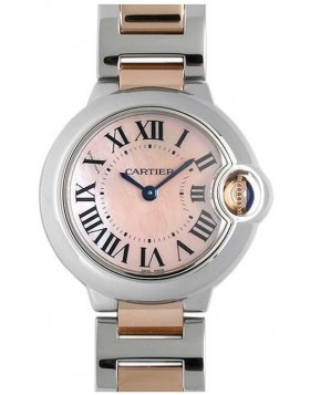 Popular Replica Cartier Ballon Bleu 28mm Pink Mother of Pearl Ladies Watch W2BB0009