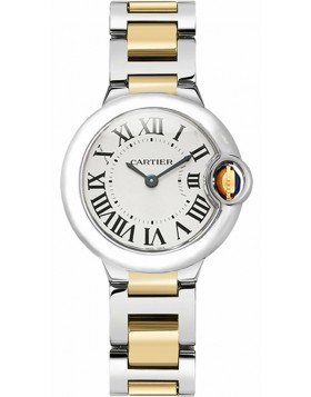 Popular Replica Cartier Ballon Bleu Silver Dial Ladies Watc W2BB0010