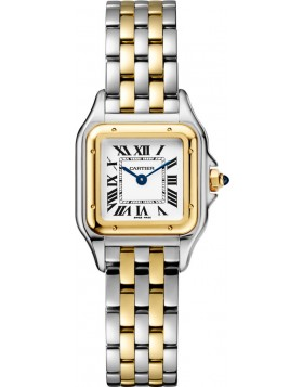 Popular Replica Cartier Panthere de Cartier Small Ladies Watch White Dial W2PN0006