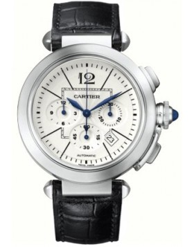 Replica Cartier Pasha Stainless Steel Automatic Silver Dial Mens Watch