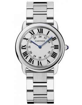 Replica Cartier Ronde Solo Quartz 29mm Silver Dial Ladies Watch