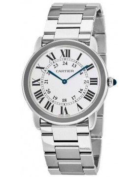Replica Cartier Ronde Solo Quartz 36mm Silver Dial Ladies Watch