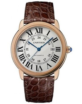 Replica Cartier Ronde Solo de Cartier XL Automatic Silver Dial Mens Watch