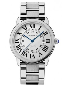 Replica Cartier Ronde Solo de Cartier 42 mm Automatic Steel Silver Dial Mens Watch