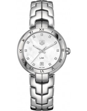 Fake TAG Heuer Link Mother of Pearl Dial Steel Ladies Watch WAT1315.BA0956