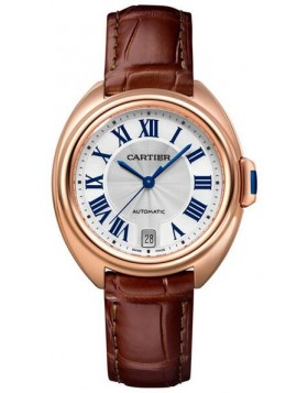 Popular Replica Cartier Cle De Cartier Automatic 35mm Silver Dial Ladies Watch WGCL0013