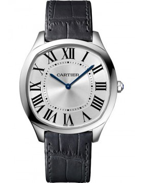 Popular Replica Cartier Drive de Cartier Extra-Flat White Gold Mens Watch WGNM0007