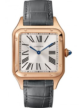 Fake Cartier Santos Dumont Large Pink Gold Mens Watch WGSA0021