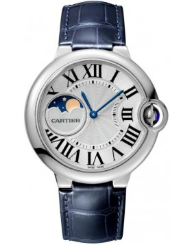 Popular Replica Cartier Ballon Bleu de Cartier watch 37 mm Steel Silvered WSBB0020