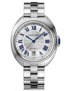 Replica Cartier Cle De Cartier Automatic 40mm Silver Dial Mens Watch