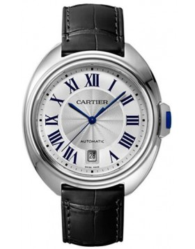 Popular Replica Cartier Cle De Cartier Automatic Silver Dial Mens Watch WSCL0018