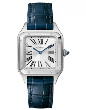 Fake Cartier Santos Dumont Small Silver Roman Dial Ladies Watch WSSA0023