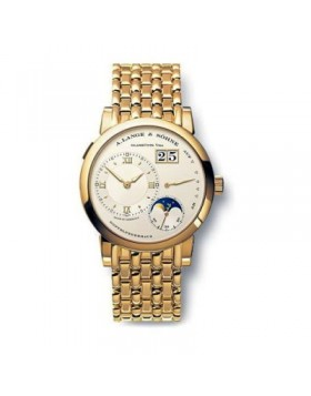 Replica A.Lange & Sohne Lange 1 Moonphase Manual Yellow Gold Mens Watch