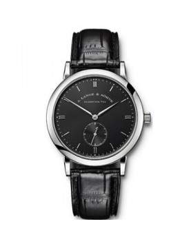 Replica A.Lange & Sohne Saxonia Black Dial 37mm Mens Watch