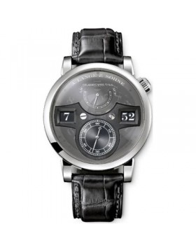 Replica A.Lange & Sohne Zeitwerk Transparent/Black Dial 42mm Mens Watch