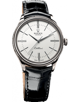 Rolex Cellini Time White Dial Automatic Mens Watch Replica