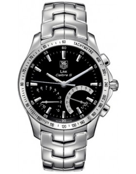 Fake TAG Heuer Link Calibre S Black Dial Chronograph Mens Watch