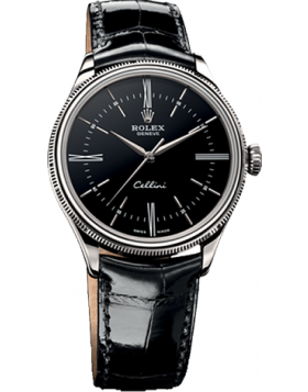 Rolex Cellini Time Black Dial Automatic Mens Watch Replica