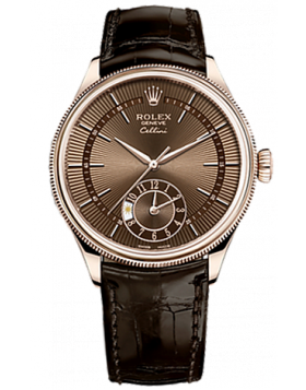 Rolex Cellini Dual Time 39mm Everose Gold Mens Watch Replica