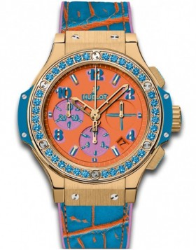 Fake Hublot Big Bang Pop Art Yellow Gold Blue 341.VL.4789.LR.1207.POP15