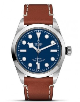 Tudor Heritage Black Bay 36 Brown Leather Strap Watch Replica