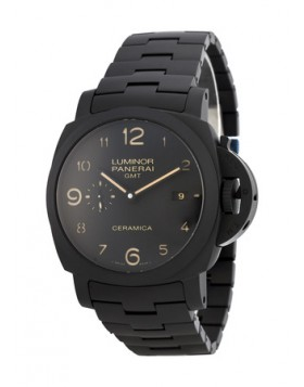 Popular Replica Panerai Luminor 1950 Tuttonero GMT Black Ceramic Mens Watch PAM00438
