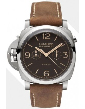 Popular Replica Panerai Luminor 1950 Chrono Monopulsante Left-Handed 8 Days Titanio PAM00579