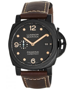 Popular Replica Panerai Luminor 1950 3 Days Carbotech 44MM Automatic P9010 Movement Mens Watch PAM00661