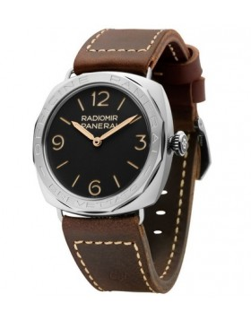 Fake Panerai Radiomir 3 Days 47MM Black Dial Brown Leather Mens Watch