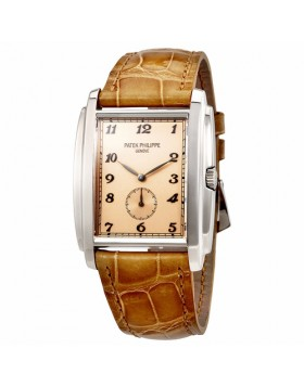 Replica Patek Philippe Gondolo Manua Vintage Rose Dial Mens Watch