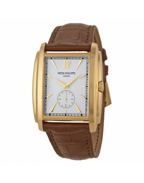 Replica Patek Philippe Gondolo Silver Dial Yellow Gold Mens Watch