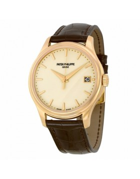 Replica Patek Philippe Calatrava Ivory Dial Automatic Mens Watch