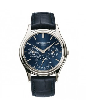 Replica Patek Philippe Grand Complications Blue Dial Platinum Mens Watch